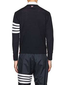 Block Striped Wool Sweater by Thom Browne