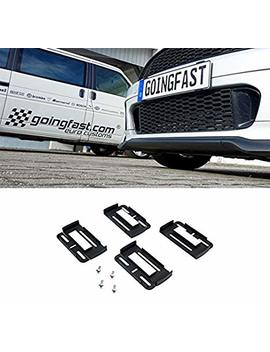 2x Simple Fix Universal European Euro Number License Number Plate Holder Frame by Goingfast