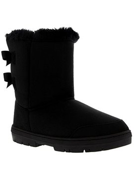 Womens Twin Bow Tall Classic Waterproof Winter Rain Snow Boots by Holly