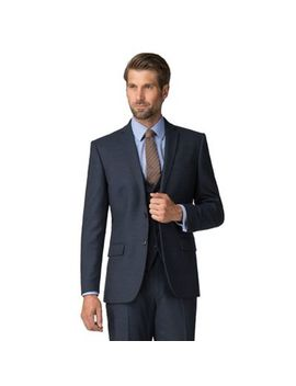 Racing Green   Navy Boucle Tailored Jacket by Racing Green