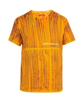 Lapped Hand Dyed Cotton T Shirt by Eckhaus Latta