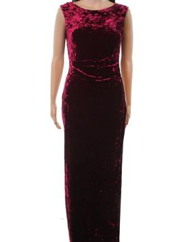 Vince Camuto Wine Red Women's Size 8 Velvet Cowl Back Gown Dress #119 by Vince Camuto