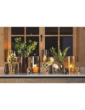 Flower Metallic Bud Vase H14cm Platinum by Lsa