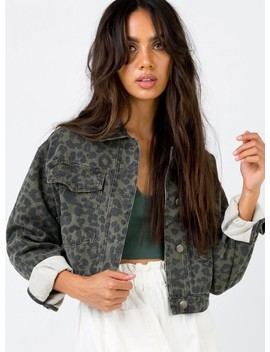 Coney Leopard Print Jacket by Princess Polly