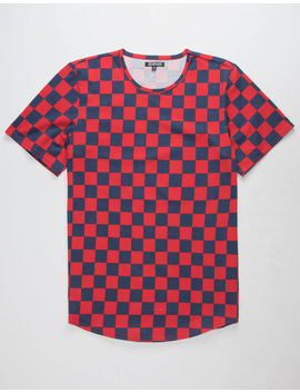 Elwood Checked Tall Mens T Shirt by Elwood