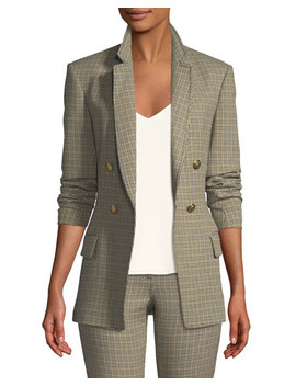 Sedgwick Double Breasted Houndstooth Blazer by A.L.C.