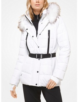 Quilted Down And Faux Fur Jacket by Michael Michael Kors