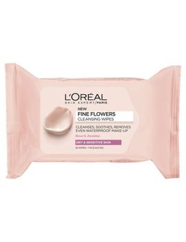 L'oreal Paris Fine Flowers Cleansing Wipes Sensitive Skin X25 by L'oreal