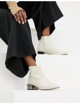 Asos Design Alpha Leather Ankle Boots by Asos Design