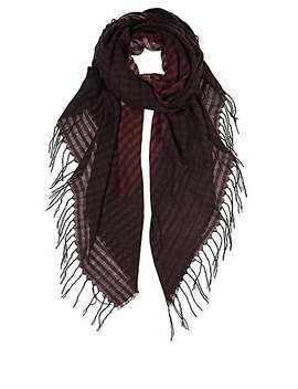 Dégradé Check Cashmere Silk Flannel Stole by Barneys New York