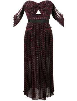Strapless Polka Dot Dress by Self Portrait