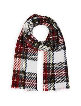 Plaid Cashmere Blend Scarf by Barneys New York