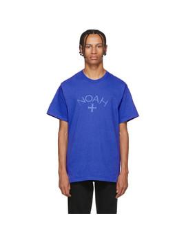 Blue Core Logo T Shirt by Noah Nyc