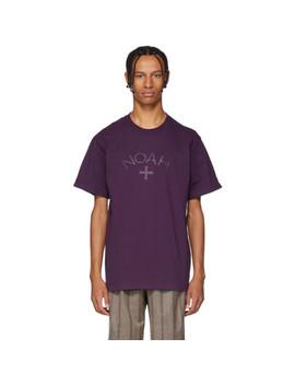 Purple Logo T Shirt by Noah Nyc
