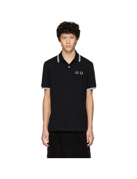 Black Fred Perry Edition Stripe Polo by Comme Des GarÇons Homme Deux
