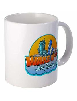 11 Ounce Mug   Wake Up San Francisco Mug   S White By Coffee Mug by Amazon