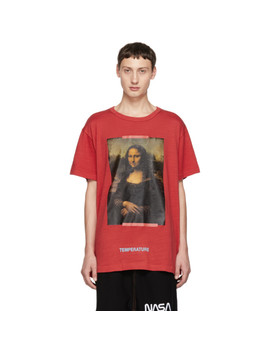 Ssense Exclusive Red Mona Lisa T Shirt by Off White
