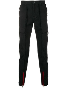 Frayed Hem Skinny Trousers by John Undercover