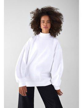 Mit Geripptem Stehkragen    Sweatshirts by Bershka
