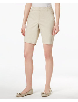 Petite Twill Bermuda Shorts, Created For Macy's by Charter Club