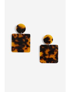 **Tortoise Shell Square Drops by Topshop