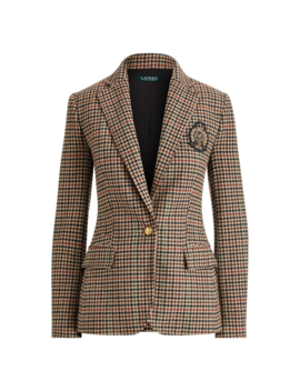 Bullion Plaid Wool Blazer by Ralph Lauren