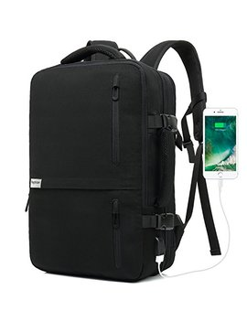 Lifeasy Travel Backpack, 35 L Carry On Daypack Flight Approved Laptop Expandable Weekender Multipurpose Trip Bag Business Backpacks With Usb Charging Port Black by Lifeasy
