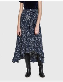 Barra Crepe Wrap Skirt by Ganni