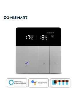 Electric Floor Heating Thermostat Work With Alexa Google Home Smart Wifi Control External Temperature Controller 20 A 200 240 V by Zemismart