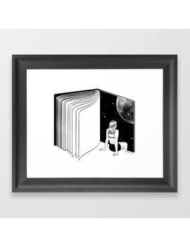 Reading Is Dreaming With Your Eyes Open Framed Art Print by