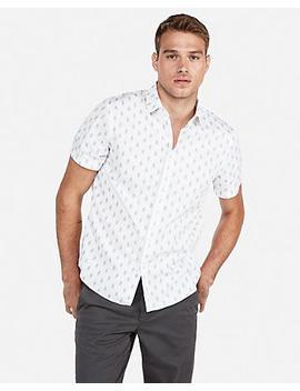 Classic Diamond Print Short Sleeve Shirt by Express