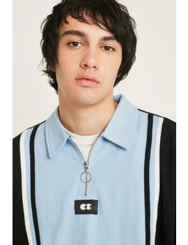Lazy Oaf Colour Block Sky Blue Rugby Shirt by Lazy Oaf