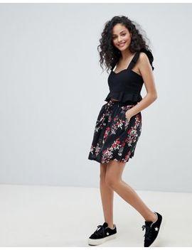 Pimkie Floral Pleated Mini Skirt by Pimkie