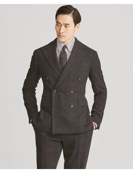 Glen Plaid Wool Cashmere Suit by Ralph Lauren