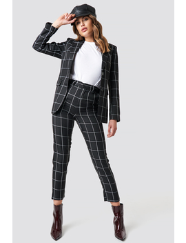 Tailored Plaid Suit Pants by Na Kd Trend