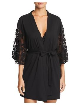 Alexiss Embroidered Sleeve Robe by Flora Nikrooz
