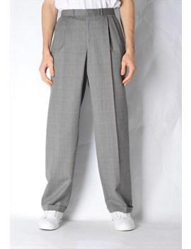 Vintage 90s Grey Check Wool Pants by Kaleidoo