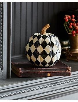 Courtly Harlequin Small Pumpkin by Mac Kenzie Childs