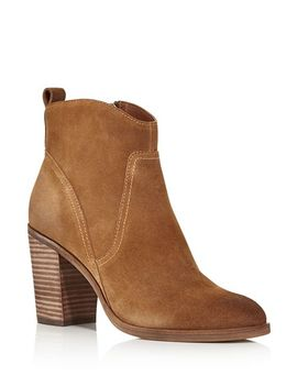 Women's Saint Suede Zip Up Booties by Dolce Vita