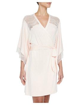 Esperanza Lace Trim Kimono Robe by Eberjey