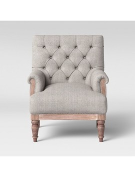 Alford Rolled Arm Tufted Chair   Threshold™ by Threshold™