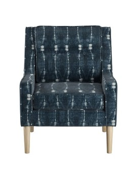 Boho Button Arm Chair Bali Indigo   Skyline Furniture by Skyline Furniture
