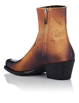 Metal Tipped Leather Boots by Calvin Klein 205 W39 Nyc
