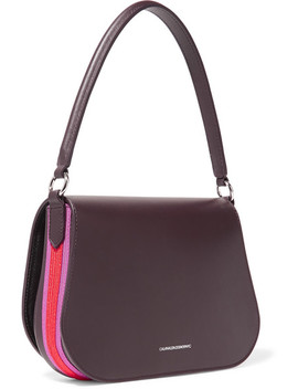Bonnie Grosgrain Trimmed Leather Shoulder Bag by Calvin Klein 205 W39 Nyc
