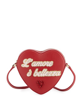Girls' L'amore Heart Shaped Leather Crossbody Bag by Dolce & Gabbana