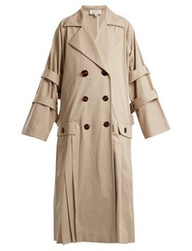 Trench Coat Plissé Oversize by Isa Arfen