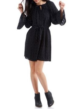 Polka Dot Bell Sleeve Dress by Lucky Brand