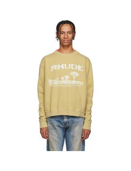 Yellow Desert Sweatershirt by Rhude