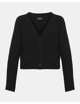Sculpted Sleeve Cardigan by Theory