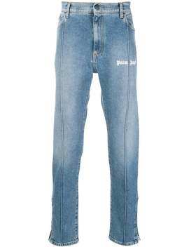 Logo Straight Leg Jeans by Palm Angels